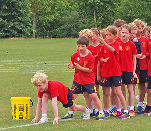 Shell pupils on shell sports day
