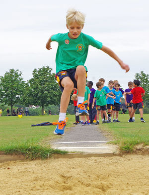 Shell sports day 2017 boy longjumping