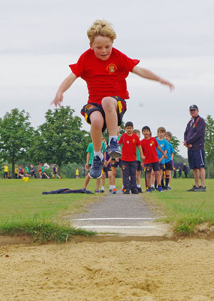 Shell sports day boy longjump 2017