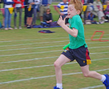 Shell sports day boy running