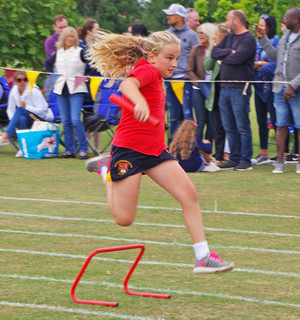 Shell sports day girl hurdles