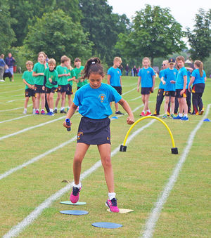 Shell sports day house relay races