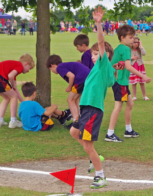 Shell sports day shot put