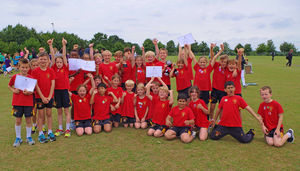 Winners of shell sports day