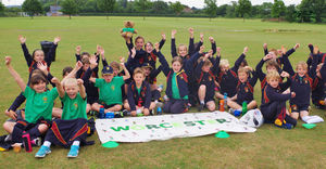 Worcester pupils at shell sports day