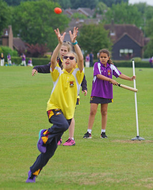 Westfield girl in prep school house rounders