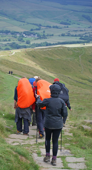 Dofe group walking in peak district