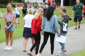 Senior School pupils meet on GCSE Results Day 2017