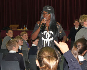Yinka Williams with U3 pupils