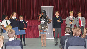 Yinka Williams cyber-bullying workshop for U3