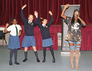 cyber-bullying workshop for U3 by singer Yinka Williams
