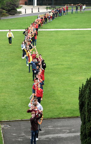 Student Chain on Whole College Charity Day