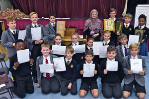 Prep School Pupils with Islam Workshop Drawings
