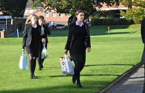 Senior School Harvest Festival Bags Gathered 2017