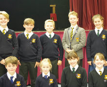 Prep school pupil councillors with medals