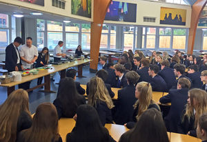 U5 in Life Skills Cookery Demonstration with Gary Law
