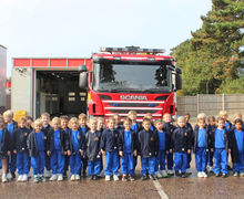 Year 1 group at B Stortford Fire Station Oct 2017