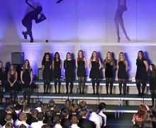 Alliott House girls singing part song in House Music 2017