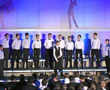 Collett House boys part song in House Music 2017