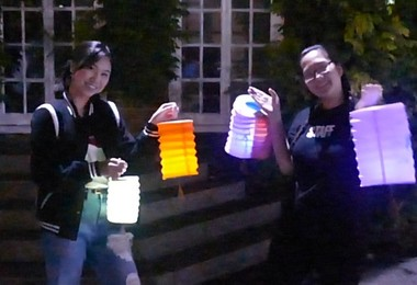 Boarders with Chinese Lanterns for Mid Autumn Festival