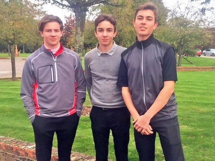 Herts county team golf champ pupils