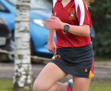 Benson House Girl running Pearl Cup