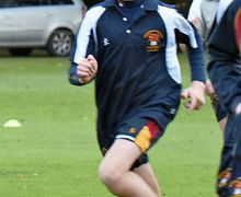 Rowe House boy running in Yeo Cup 2017