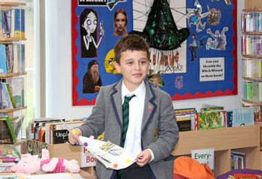 Prep School Form 2 Boy with his Curiosity Club project