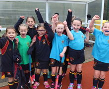 Shell League Competition Hockey Girls Cheering