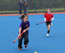 Shell Girls playing Hockey in League Competition