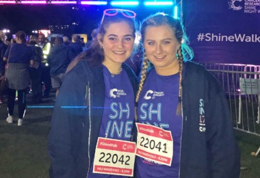 Young House Girls' Shine Walk for Cancer Research