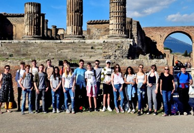5th Form's Stunning Latin Trip to Pompeii
