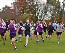 Senior School boys running in Yeo Cup 2017