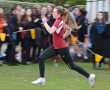 Young House Senior School runner in Pearl Cup