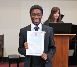 Rowe House Diversity Ambassador with anti-bullying certificate