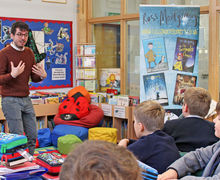 Author Ross Montgomery visits Prep School Pupils