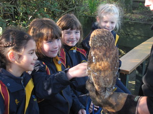 Prep School pupils with animals