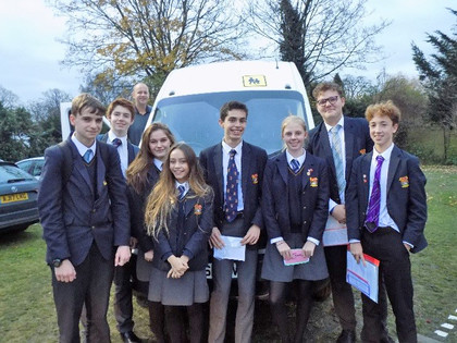 Senior school group at the perse mfl debate