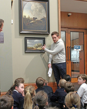 Lower shell learning about painting at fitzwilliam