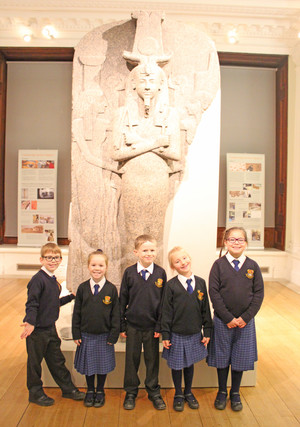 Lower shell pupils on fitzwilliam museum trip
