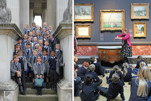 Lower shell enjoying visit to fitzwilliam museum