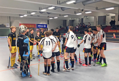Hockey team with Hamburg team on Hockey Tour