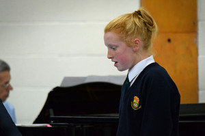 Prep School Girl Singing