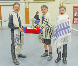 Boys in Upper Shell at jewish workshop