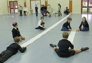 Upper Shell pupils in prep school hall for jewish workshop