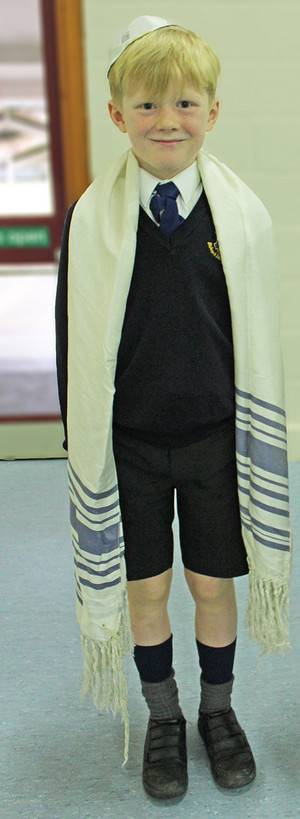 Upper shell boy in jewish clothing