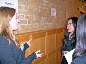 L6 chatting to u6 at he careers event