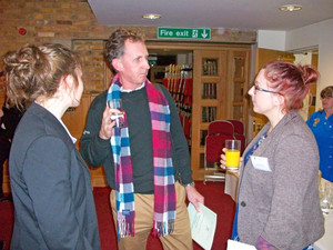 Parents l6 chatting at he careers event