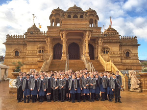 Form 1 Visit to Wembley mandir 2018