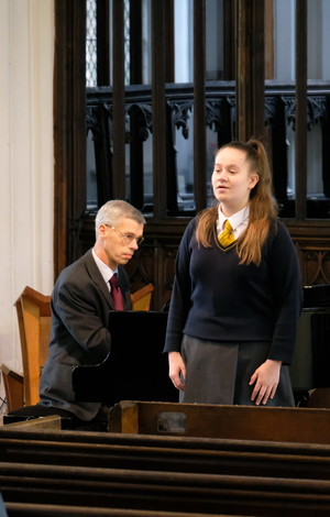 Billianna singing in St Michael's Church recital